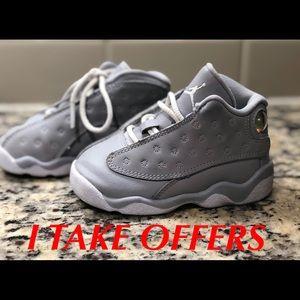 Air Jordan Retro 13 Wolf Gray Size 6C